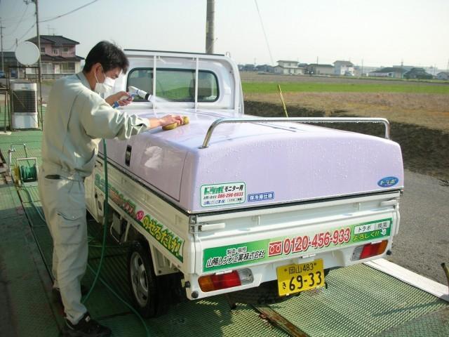 トラボ車の洗車