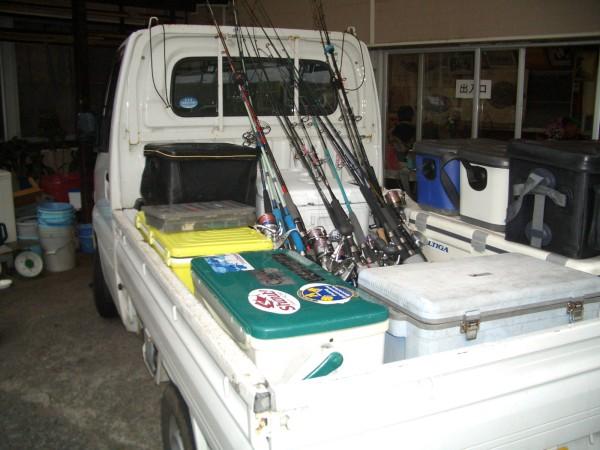 軽トラ荷台釣り道具②