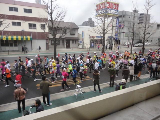 マラソンコースのお店