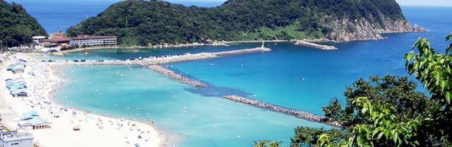 日本海の竹野浜