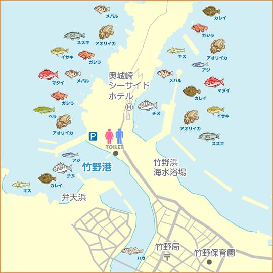 竹野浜 釣り