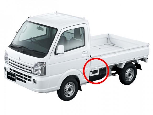 【軽トラ 荷台ステップ】 現行モデルの優しい装備