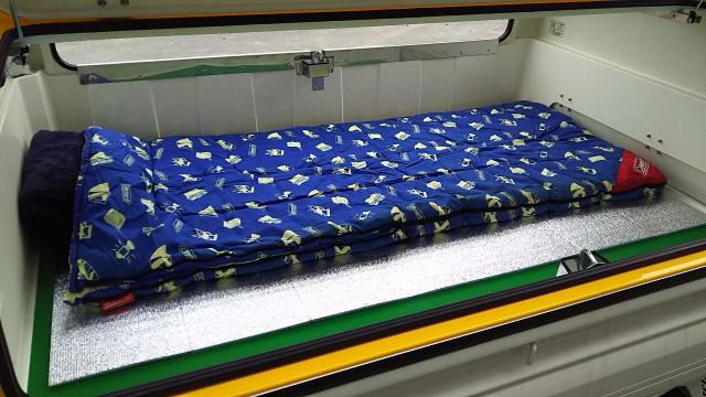 トラボ 寝袋