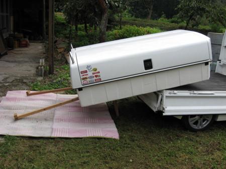 【軽トラ荷台ボックス トラボ】一人で簡単!載せ降ろしする方法
