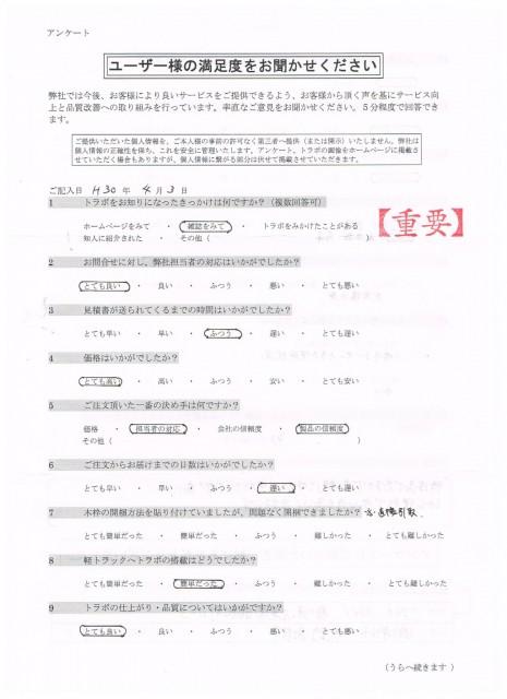 香川県 造園業㈱N様 特注ジャンボ用タイプ オレンジM